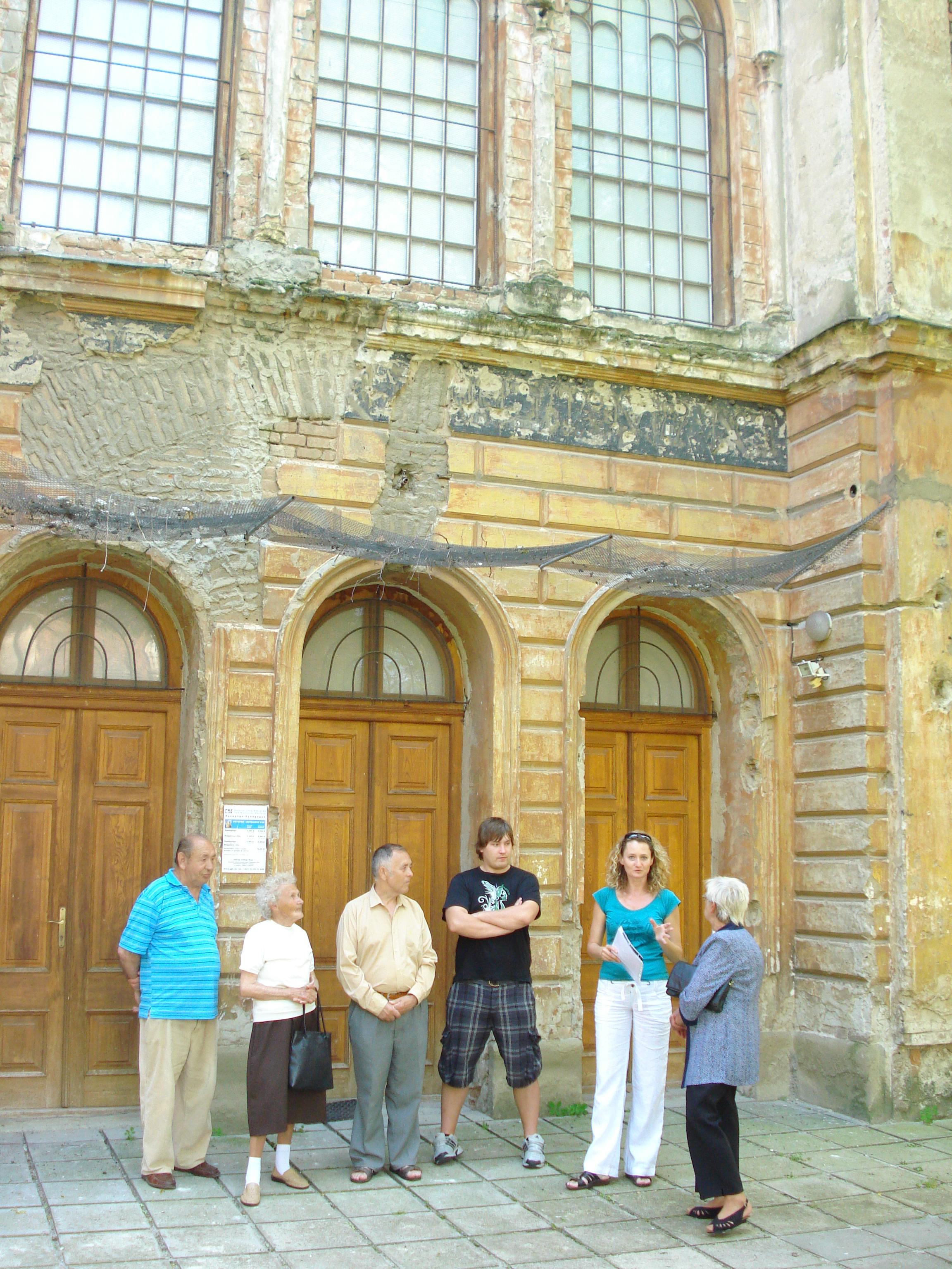 Návšteva synagógy v Trnave 2010
