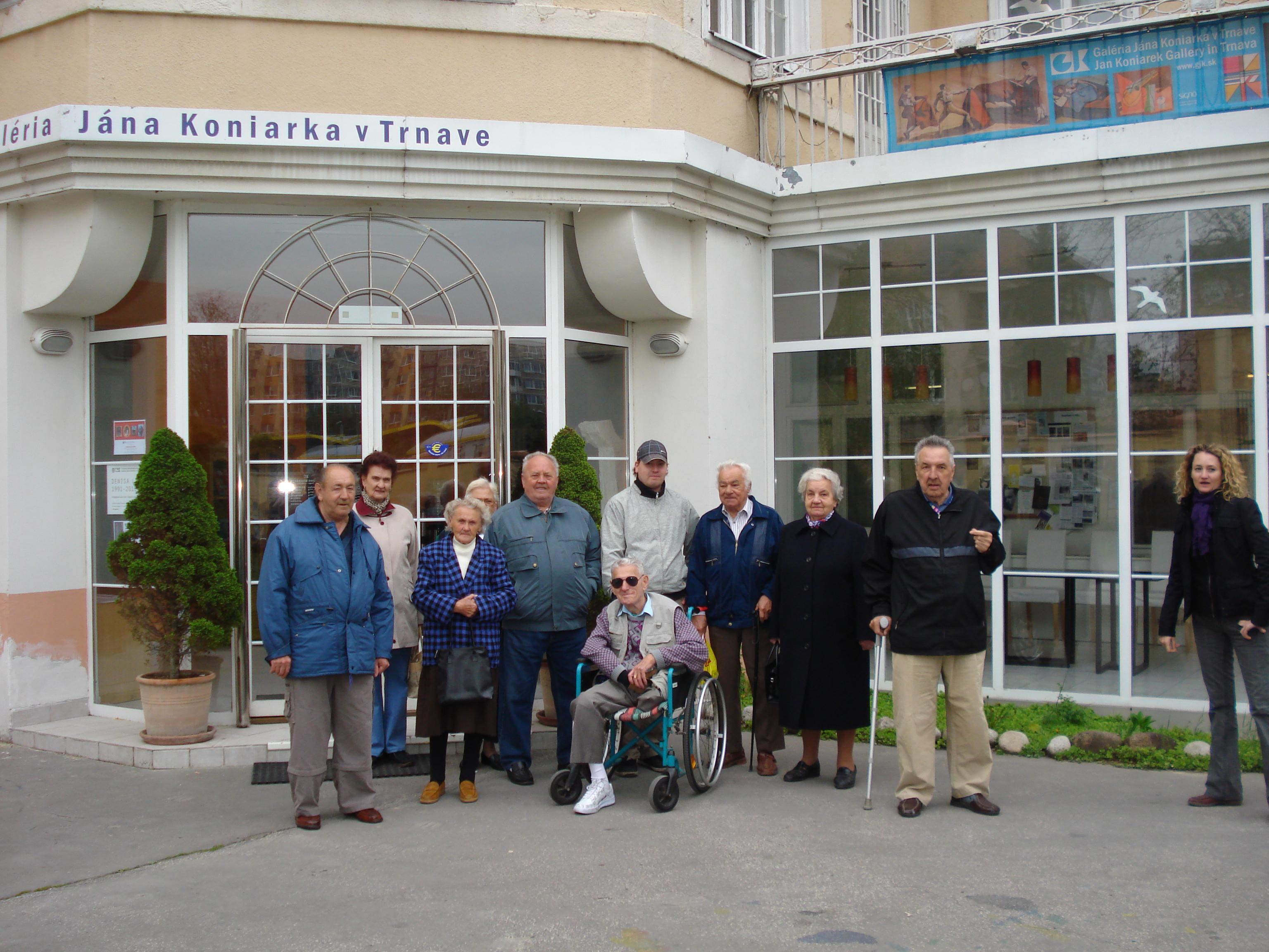 Návšteva galérie J. Koniarka v Trnave 2010