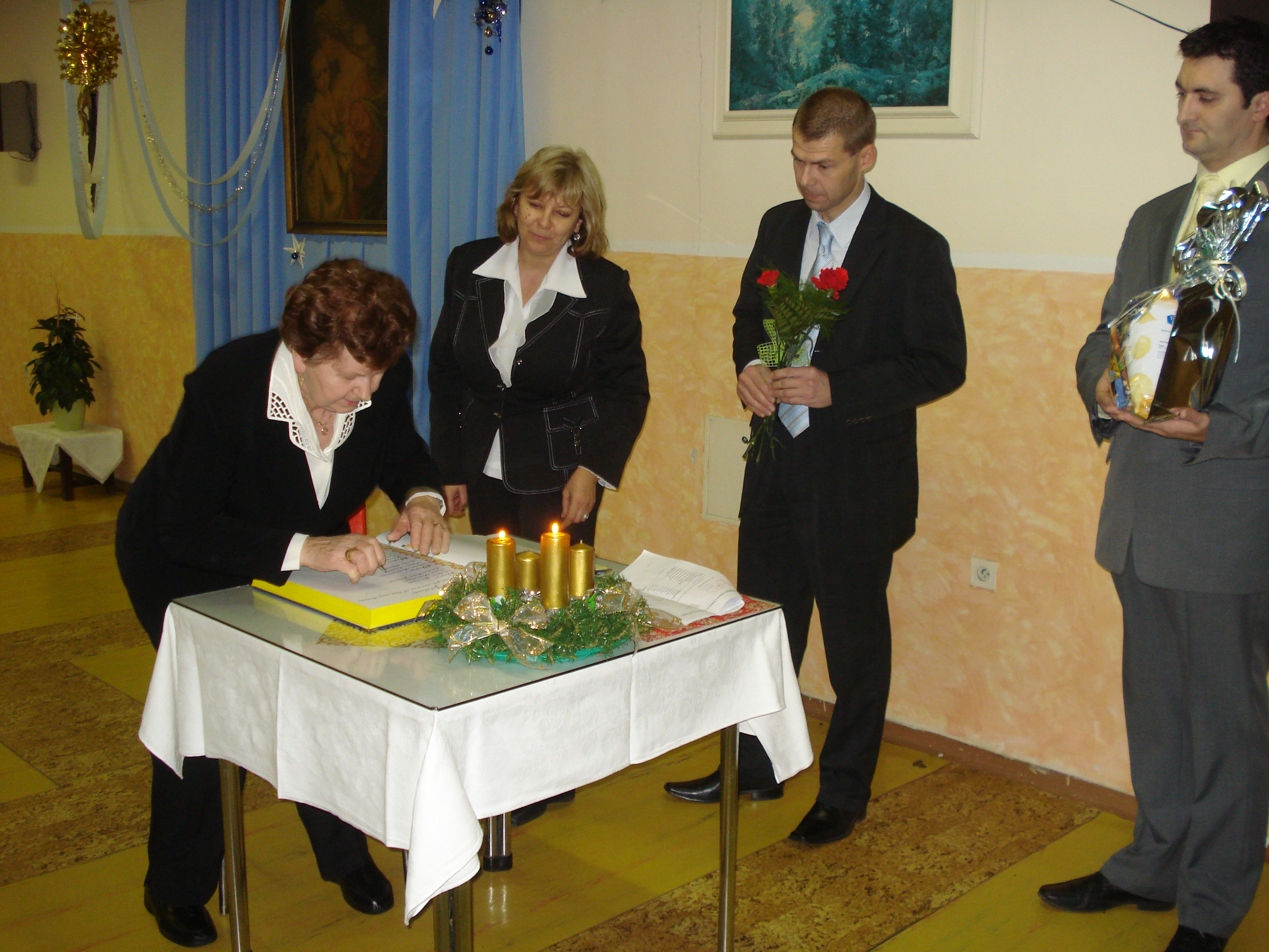 Slávnostné blahoželanie jubilantom - spolupráca s mestom Trnava 2009